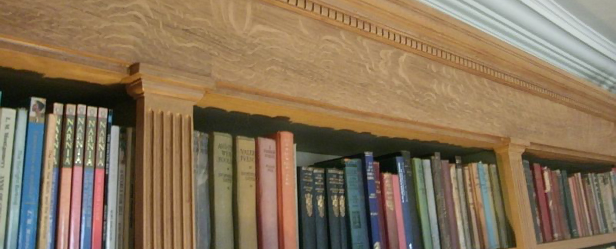 Graining on bookcase detail