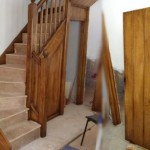 Graining new pine staircase