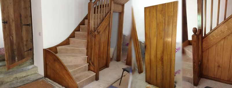 Graining new pine staircase