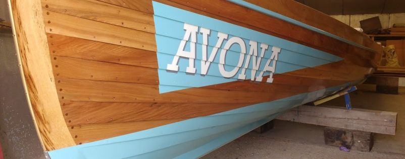 Clifton pilot gig clubs boat - Avona signed